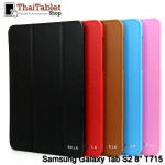 "Belk Original Italian Leather Smart Cover Case For Samsung Galaxy Tab S2 8"" T715 / Tab S2 VE 8"""