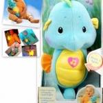 ตุ๊กตาม้าน้ำกล่อมนอน Fisher-Price สีฟ้า (Fisher-Price Ocean Wonders Soothe and Glow Seahorse Blue)