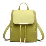 [ พร้อมส่ง ] - กระเป๋าเป้แฟชั่น นำเข้าสไตล์เกาหลี สีเขียวมะนาว ใบกลางๆ ทรงเก๋ ๆ ใบกลางสะพายหลัง หนังคุณภาพสวย น่ารักมากๆค่ะ