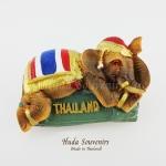 แม่เหล็กติดตู้เย็น ลวดลายช้างทรงเครื่องสีธงชาติไทย วัสดุเรซิ่น ชิ้นงานปั้มลายเนื้อนูน ลงสีสวยงาม