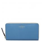 กระเป๋าสตางค์ Kate Spade mott street lacey สีฟ้า