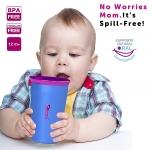 แก้วหัดดื่ม Wow 360 องศา ดื่มได้รอบแก้ว ไม่หก Wow Spill Free Cup for Kids