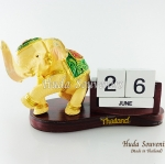 ของที่ระลึก ช้างทรงเครื่องเรซิ่นปฏิทิน รูปช้างยืนยกขา สินค้าพร้อมส่ง