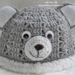 หมวกไหมพรมการ์ตูนหมี