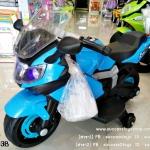 ฺBJ3203B รถมอเตอร์ไซค์สีฟ้า (1 มอเตอร์ เล่นMP3ได้)
