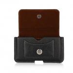 Smart Black Pocket ซองหนังคาดเอว แนวนอน สำหรับ iPhone 6s Plus / 7 Plus มือถือ 5.7 นิ้ว