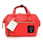 [ พร้อมส่ง 1 ใบสุดท้าย ] - กระเป๋าแฟชั่น กระเป๋าถือ&สะพาย สีแดงสุดจี๊ด ไซส์กลางๆ ดีไซน์แบรนด์ anello สุดฮิต มีสายสะพายยาวปรับระดับได้ค่ะ