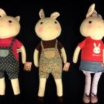 ตุ๊กตากระต่ายทิรามิสุ 3ตัว