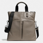 Coach CHARLES FOLDOVER TOTE IN SPORT CALF LEATHER FOG