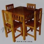 รหัส Maisak00198 ชุดโต๊ะกินข้าวไม้สัก 80X80X80 ซม.  เก้าอี้ กว้าง 37 ซม. ยาว 37 ซม. สูง 95 ซม. โต๊ะกลาง กว้าง 80 ซม. ยาว 80 ซม. สูง 80 ซม.