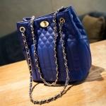 [ พร้อมส่ง ] - กระเป๋าแฟชั่น นำเข้าสไตล์เกาหลี สีน้ำเงินสุดหรู ใบกลาง สไตล์สาวมั่น ดีไซน์สวยเรียบหรู งานหนังสวย ราคาเบาๆ