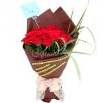 ช่อดอกไม้สีแดง บอกรัก ดีไซน์ทันสมัย