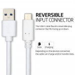 USB 3.1 Type C To 3.0 A Male Data Transfer Charge Cable White 1M