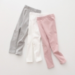 กางเกงเลคกิ้งขายาวเด็กหญิง สีเทาลายกระต่าย มี Size 2-7 ขวบ