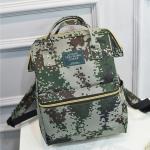 [ พร้อมส่ง ] - กระเป๋าเป้แฟชั่น สไตล์เกาหลี สีเขียวลายพราง ใบใหญ่จุของเยอะ ดีไซน์สไตล์แบรนด์สุดฮิต เหมาะกับสาว ๆ ที่ชอบกระเป๋าเป้ใบใหญ่ๆ แต่น้ำหนักเบา