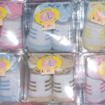 ถุงเท้าเด็กอ่อนแรกเกิด 0-6 เดือน คละลาย