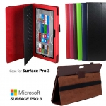 Leather Cover Case with elastic For Microsoft Surface PRO 3 12 ""