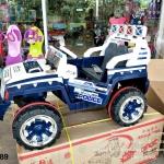 HD6689W/B รถจิ๊ปตำรวจ สีขาว/น้ำเงิน 1มอเตอร์/แบต12V