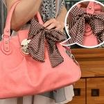 กระเป๋าแฟชั่นPG สีชมพู Korea Life Style สวยน่ารัก แต่งโบว์เก๋ ๆ สีสันสวยหวาน ลุคคุณหนูสุดๆ ค่ะ