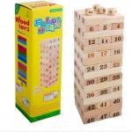 เกมตึกถล่มไม้ Uno Stacko อูโน่ สแตกเกอร์ ของเล่นไม้ฝึกสมาธิและบาลานซ์ ขนาดสูง 28 cm.
