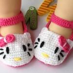 รองเท้าเด็กอ่อน ไหมพรมถัก Handmade คิตตี้ สำหรับเด็ก 6-18 เดือน