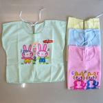 [แพค 3 ตัว] เสื้อเด็กทารกแรกเกิด ป้ายหลัง ผ้ายืด คละลาย