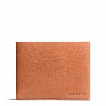 กระเป๋าสตางค์ COACH BLEECKER PEBBLED LEATHER SLIM BILLFOLD F74614