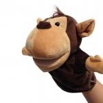 ตุ๊กตาหุ่นมือลิง หัวใหญ่ ขนหนานุ่ม ขยับปากได้