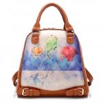 กระเป๋าเป้แฟชั่น BeiBaoBao น้ำตาลลายสัตว์ สีสัน ColorFul ถือเก๋ ๆ สะพายเท่ ๆ So Cute !!