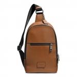 กระเป๋าผู้ชาย COACH รุ่น CAMPUS PACK IN PEBBLE LEATHER F71709 : SADDLE
