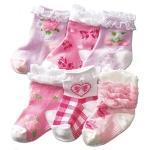 ถุงเท้าเด็กหญิง สวยหวาน สำหรับวัยหัดเดิน 1-3 ปี มีกันลื่น
