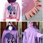 เสื้อกันหนาว Pony *ม่วง* ไซส์ 110