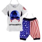 เซ็ตเสื้อยืด Captain America +กางเกงขาสามส่วน ไซส์ 90