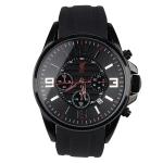 นาฬิกาข้อมือชายลิเวอร์พูลของแท้ Liverpool FC Three-Eye Metal Chronograph Watch with Silicon Band - Black