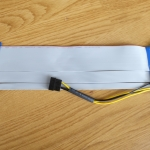 Riser Card PCI-E16X to 16X + ไฟเลี้ยง ยาว 20 CM
