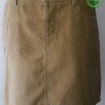 S7:2nd hand skirt กระโปรงสีครีมผ้าลูกฟูก