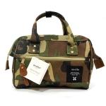 [ พร้อมส่ง ] - กระเป๋าแฟชั่น กระเป๋าถือ&สะพาย สีเขียวลายพราง ไซส์กลางๆ ดีไซน์แบรนด์ anello สุดฮิต มีสายสะพายยาวปรับระดับได้ค่ะ