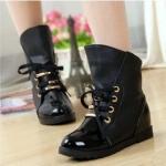 รองเท้าบู๊ทดำ เท่ห์ หรู สไตล์ยุโรป-อเมริกัน Size 36 - 40