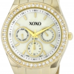 นาฬิกา XOXO Women's XO5302A Rhinestone Accent Gold-Tone Bracelet Watch