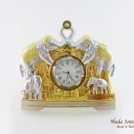ของที่ระลึกแบบไทย นาฬิกาพรีเมี่ยมลายไทย ลวดลายช้างหันหน้าชนกัน