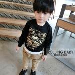 เสื้อกันหนาวแขนยาว สกรีนลายรูปเสือ Kenzo สไตล์เกาหลี สีดำ ไซส์ 11