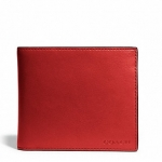 กระเป๋าผู้ชาย COACH bleecker legacy leather compact id 74345 : TOMATO