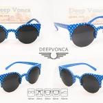 Vicki Vampire polka dot blue รหัส : KS-1351D