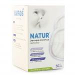 [แพค 6 กล่อง] แผ่นซับน้ำนมแม่ (แบบกระชับ) Natur 50 ชิ้น