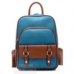 [ พร้อมส่ง ] - กระเป๋าแฟชั่น beibaobao สีน้ำเงิน ทรงเก๋ ๆ สะพายหลัง มีช่องใส่เยอะ น่ารักมากค่ะ
