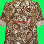 ขายแล้วค่ะ T9: Vintage top เสื้อวินเทจผ้ากำมะหยี่สีน้ำตาล ลายลูกน้ำวินเทจ&#x2764