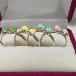 แหวนโบว์ 4 วง 4 สี (Four Pastel Ribbon Rings)