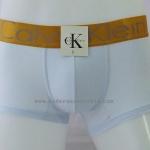 กางเกงในชาย Calvin Klein Boxer Briefs : สีขาว แถบทอง