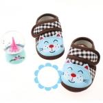 รองเท้าเด็กอ่อน รูปแมว สีน้ำตาล