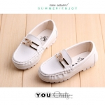 รองเท้าคัชชูเด็ก ชาย - หญิง สีขาว ประดับเพชร Size 35
